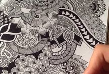 Zooray for Zentangle! / Doodleling with a purpose,...that's zentangle.  Create some gorgeous pictures when you zentangle.