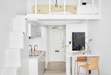 Small space solutions / Everything from costume built mini apartments and loft interior design to space saving home decor.