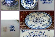 Delft - De witte starre/De vergulde boot/De porceleyne claeuw/De vergulde blompot