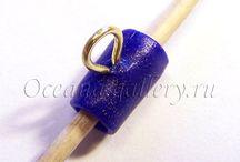 fimo jewelery tutorials / voorbeelden van het maken vansieraden en onderdelen met fimo klei