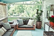 Porch and balconies...