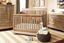 - Pembrooke Nursery Collection - / Rustic-inspired nursery collection featuring a 4-in-1 convertible crib or a upholstered 3-in-1 convertible crib, a double dresser, dresser topper, nightstand, chifferobe, bookcase, wood glider and ottoman. All pieces sold seperately. Available in a natural rustic or dark walnut finish.