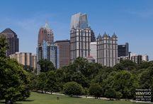 Piedmont Park / Piedmont Park and the Atlanta skyline