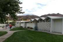 """Palm Springs Modernism Week / Some of the team took a busmans holiday to Modernism Week; attending talks on utopian developments never built, modular construction methods, and touring some of the first """"housing estates""""."""