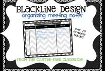 binders, lesson plans, sub notebooks / by Jacquie Eberhardt