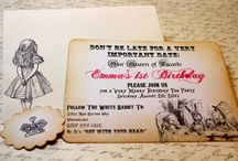 Alice In Wonder Invitations / by Debby Anderson