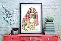 Basset hound fans / Basset hound dogs