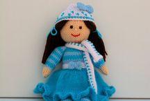 Winter Doll Knitting Pattern / Original knitting patterns from - http://edithgrace.blogspot.co.uk/