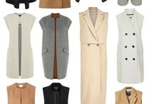 Sleeveless coats and trenches
