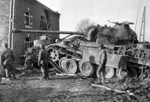 Battle of the Bulge on a Map / WWII battle in Belgium, Luxembourg, Germany 1944 1945