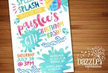 Spray Park Birthday Party