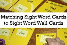Sight word activities / Sight words