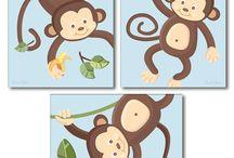 decoración monos