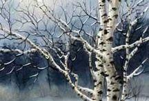 Winter Bäume landschaft