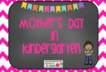 Mother's Day / This is a wonderful opportunity for allowing kinderkids to write about their moms and do a guided drawing of them. I either chalk the background or watercolor them and they are gorgeous / by Kindergarten Crayons
