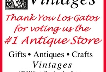 Antique Store for Vintage and New Paper / Vintages voted the #1 antique store in Los Gatos --- again. Mix of old and new, handcrafts and antiques.