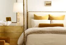 Peaceful Bedrooms / interior design, bedrooms, tufted headboard