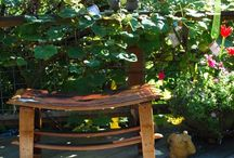 Garden Art / If you find yourself driving along scenic Chuckanut Drive, stop by and take a stroll around our Sculpture Garden. We have lots of beautiful things to add to the ambiance of your outdoor spaces - big and small alike! From glass accents, metal sculpture, lanterns, wind creations, colorful flags, and much more!