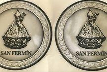San Fermín / Tablero dedicado al patrono de Pamplona