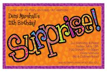 Birthday Party Invitations / #Birthday #Party #Invitations