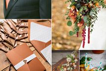 Fall Wedding inspirations / Rich and vibrant wedding colour pallets.