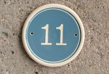 House Numbers by Lucienne / Some of the House Number styles available from Lucienne de Mauny Ceramics