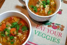 SOUPS – SALADS / Soup and salad recipes for everyday to special occasions.