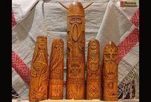 Славянские Боги из дерева
