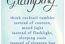 Glamping / Glamor camping - yea it's a word