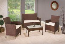 Garden Patio Set Furniture Outdoor Rattan Coffee Table Chairs Cushion Modern Big