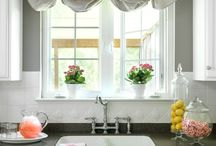 Window & Decor Ideas / Pretty window treatments, pillows and favorite decorating ideas