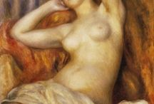 ART - Pierre Auguste Renoir / One of my loved artist ! Love how he renders the sunlight on pale skin, his simple family life with friends, garden and simple life  / by Fleur Lys