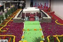 BJP Leaders cut and Eat Giant Toilet Cake