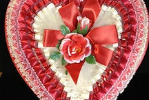 Valentine candies and flowers old fashion boxes / by Renee Broadbent Santoro