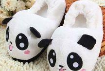 pantuflas de panda
