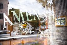 """Art & Architecture / Amen Street Fish & Raw Bar opened in 2009, reviving the """"Amen"""" name by restoring this historic corner and creating a new Charleston tradition."""