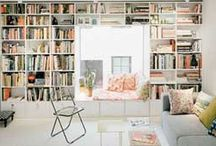 home libraries / My love for books makes me love libraries / by maria nostra