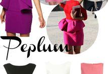 Peplum dresses!