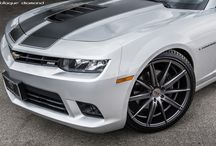 2014 Chevy Camaro Fitted with 22 Inch BD-9's in Matte Graphite / Go to www.blaquediamond.com to see our complete range