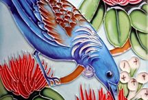 Ceramic Art Tiles NZ Artists / Ceramic Art Tiles by outstanding NZ Artists. Beautiful colours and designs make these Ceramic Art Tiles exquisite jewel like pieces. They make beautiful additions to your home and lovely gifts.