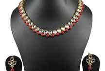 Bollywood Indian Ethnic Traditional Kundan Women Necklace Set