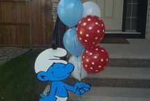 Luke's smurf party