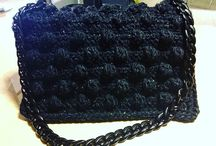 Crocheted handmaded missoni style bag