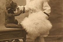 Antique Photo Teddy bears