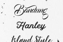 [Inspiration] Fonts & Designs