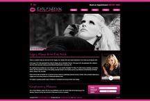 My makeup business logo/website