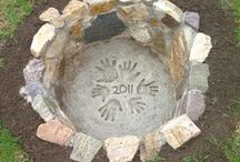Firepit / To put our mark on it!