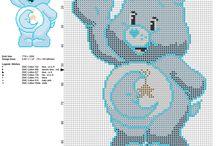 Gli Orsetti del Cuore schemi punto croce gratis / Gli Orsetti del Cuore schemi punto croce gratis, da ricamare, ricamo, passione hobby creativi.