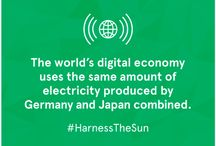 Harness The Sun / The Internet uses a lot of energy that most of us aren't even aware of. And the cost of that energy is only going to increase. Luckily, we already have an infinite energy resource. The sun.