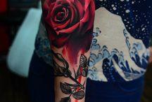 Colour Roses Tattoo